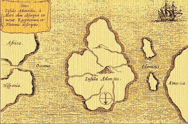 Исчезнувший материк Атлантида